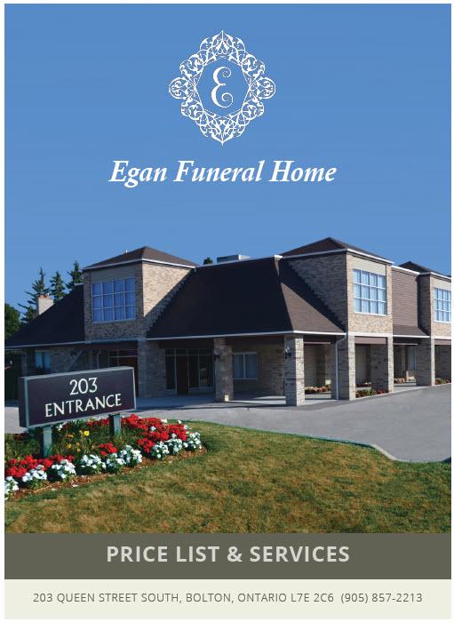 Egan Funeral Home Pricelist